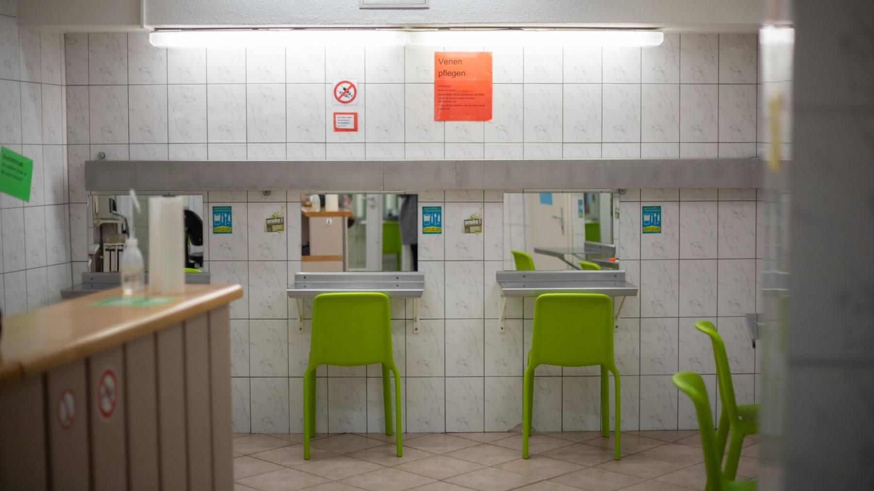 Im Drogenkonsumraum wird besonders auf die Hygiene geachtet.